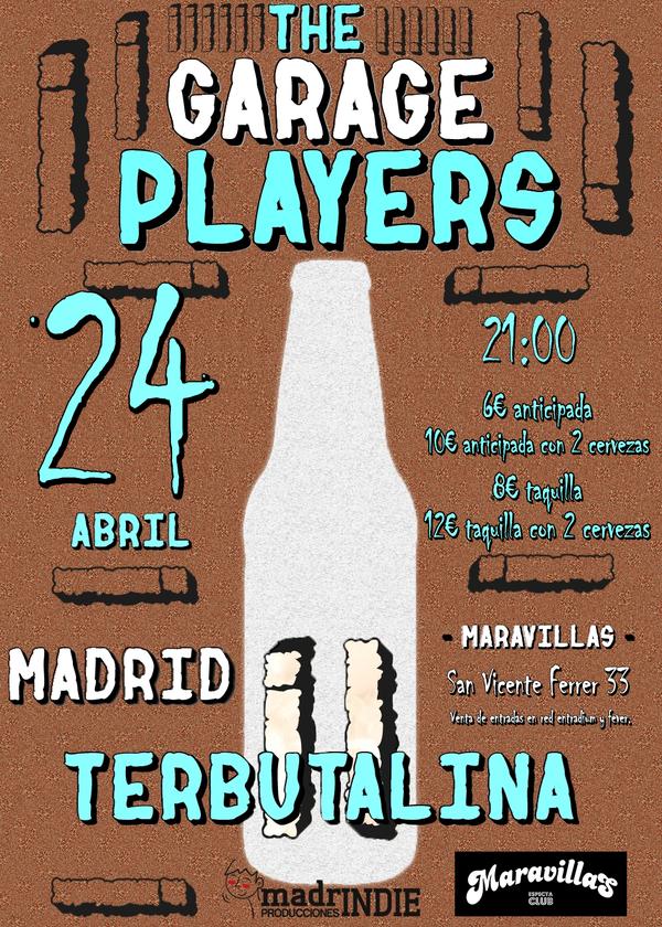 Entradas para the garage players y terbutalina en madrid for Habitamos madrid