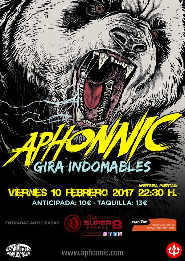 Tickets for aphonnic sala super 8 10 de febrero for Sala super 8 ferrol