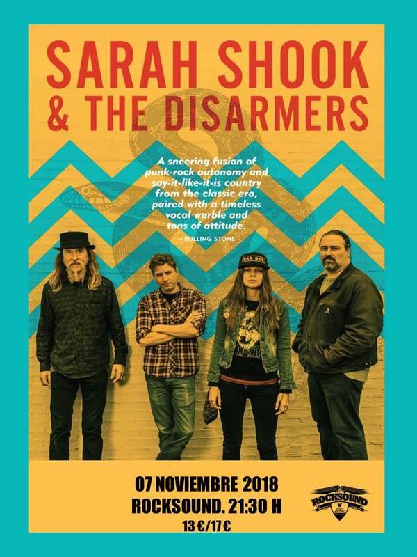 Sarah Shook & The Disarmers / Country crudo, actitud punk POSTER_SARAH_SHOOK